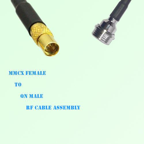 MMCX Female to QN Male RF Cable Assembly