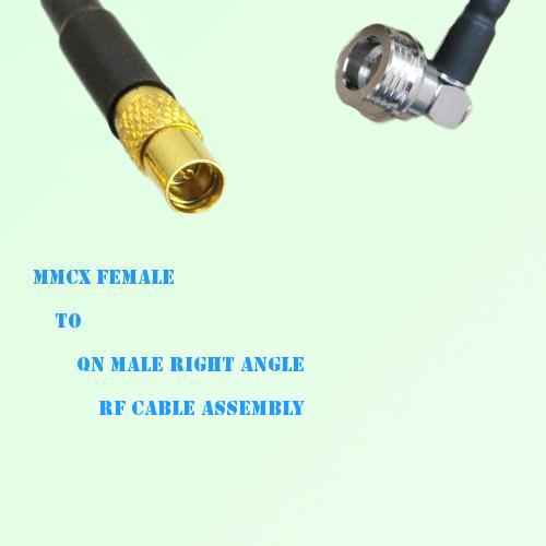 MMCX Female to QN Male Right Angle RF Cable Assembly