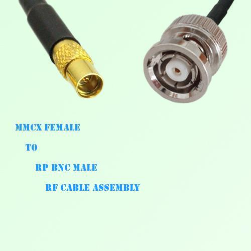 MMCX Female to RP BNC Male RF Cable Assembly