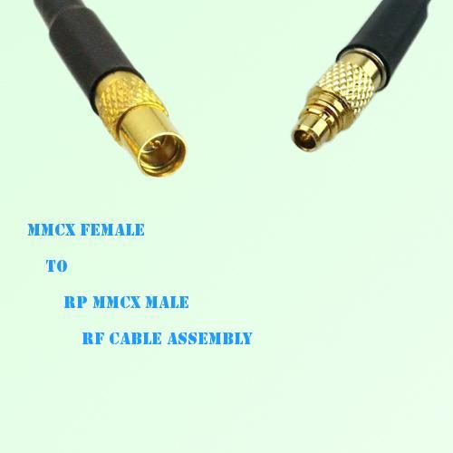 MMCX Female to RP MMCX Male RF Cable Assembly
