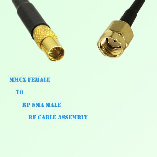 MMCX Female to RP SMA Male RF Cable Assembly