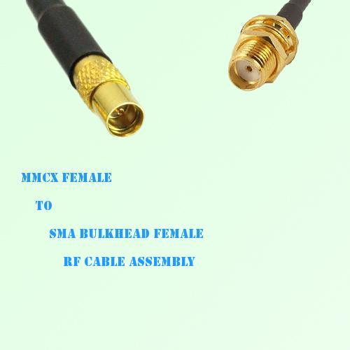 MMCX Female to SMA Bulkhead Female RF Cable Assembly