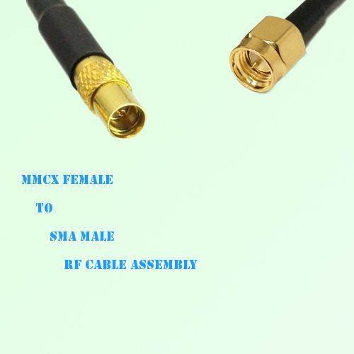 MMCX Female to SMA Male RF Cable Assembly