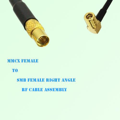 MMCX Female to SMB Female Right Angle RF Cable Assembly