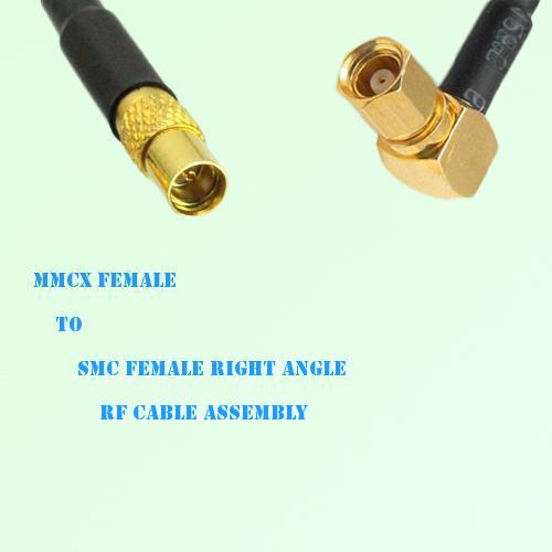 MMCX Female to SMC Female Right Angle RF Cable Assembly