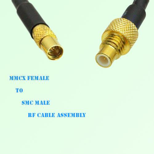 MMCX Female to SMC Male RF Cable Assembly