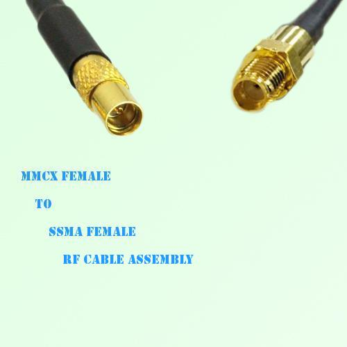 MMCX Female to SSMA Female RF Cable Assembly