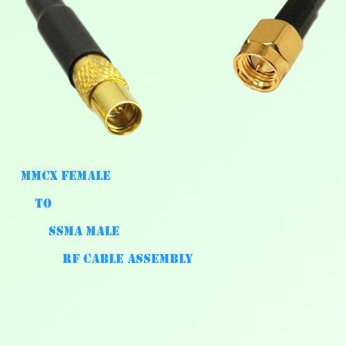 MMCX Female to SSMA Male RF Cable Assembly