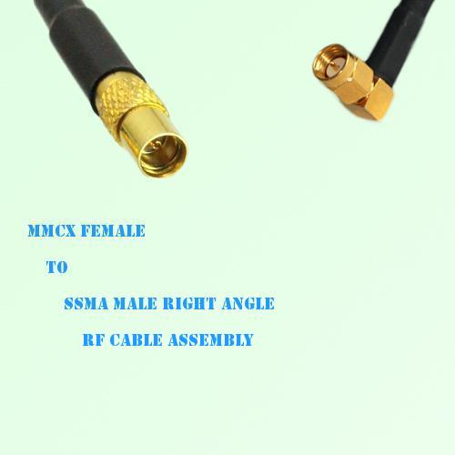 MMCX Female to SSMA Male Right Angle RF Cable Assembly