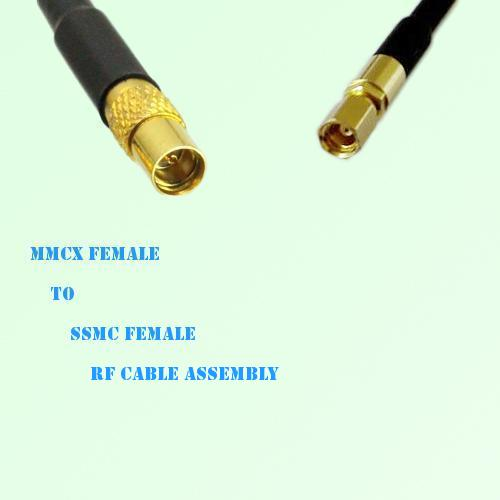 MMCX Female to SSMC Female RF Cable Assembly