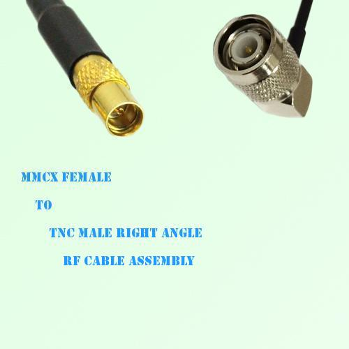 MMCX Female to TNC Male Right Angle RF Cable Assembly