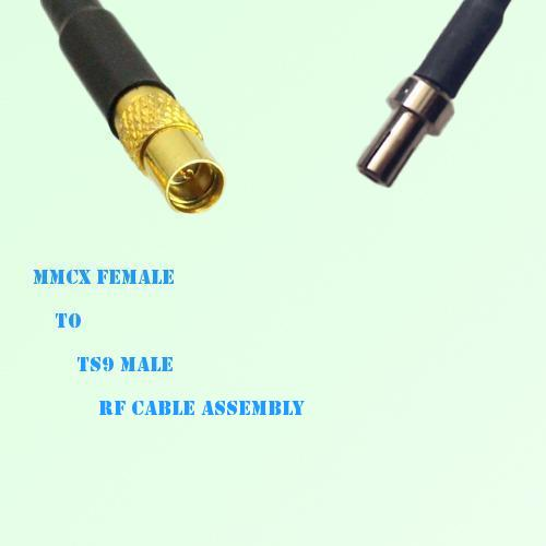 MMCX Female to TS9 Male RF Cable Assembly