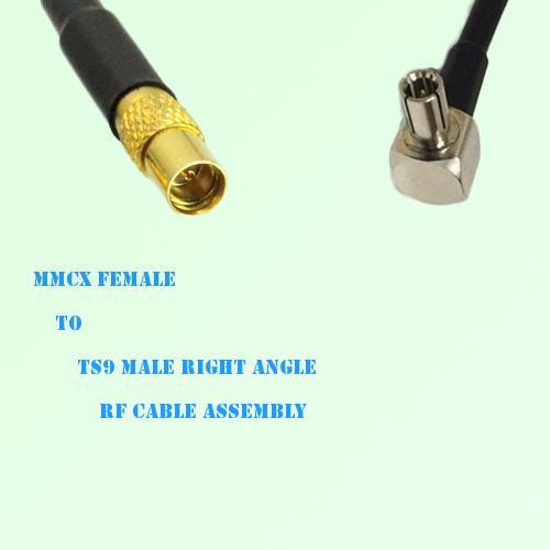 Mmcx Female To Ts9 Male Right Angle Rf Cable Assembly