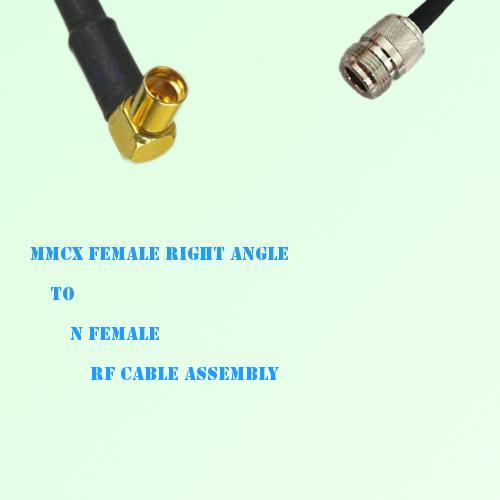 MMCX Female Right Angle to N Female RF Cable Assembly