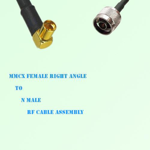 MMCX Female Right Angle to N Male RF Cable Assembly