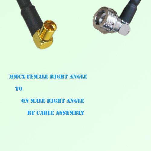 MMCX Female Right Angle to QN Male Right Angle RF Cable Assembly