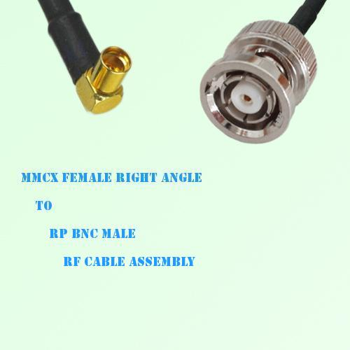 MMCX Female Right Angle to RP BNC Male RF Cable Assembly