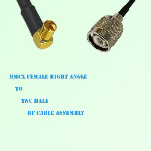 MMCX Female Right Angle to TNC Male RF Cable Assembly