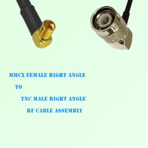 MMCX Female Right Angle to TNC Male Right Angle RF Cable Assembly