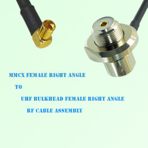 MMCX Female R/A to UHF Bulkhead Female R/A RF Cable Assembly
