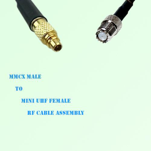 MMCX Male to Mini UHF Female RF Cable Assembly