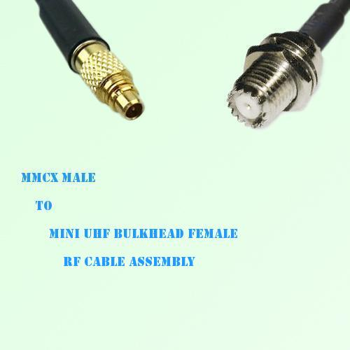 MMCX Male to Mini UHF Bulkhead Female RF Cable Assembly
