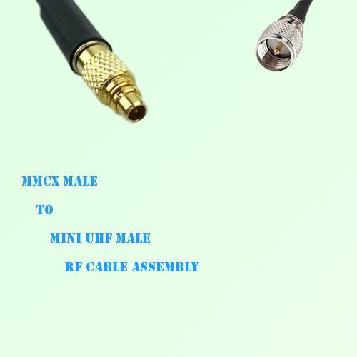 MMCX Male to Mini UHF Male RF Cable Assembly