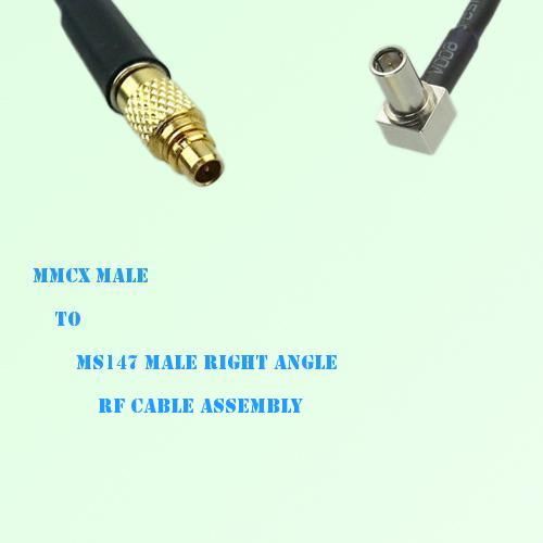 MMCX Male to MS147 Male Right Angle RF Cable Assembly