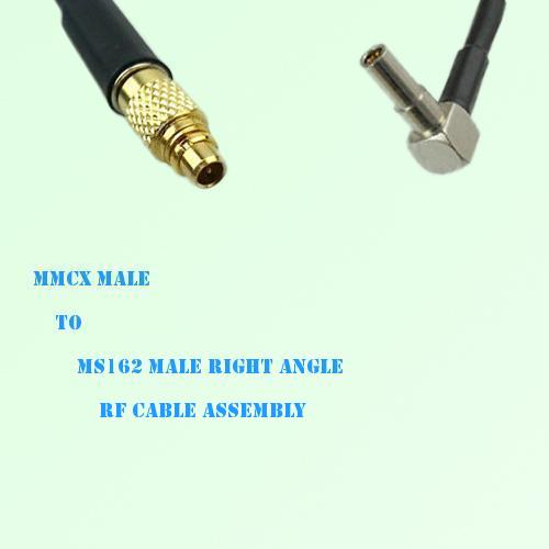 MMCX Male to MS162 Male Right Angle RF Cable Assembly