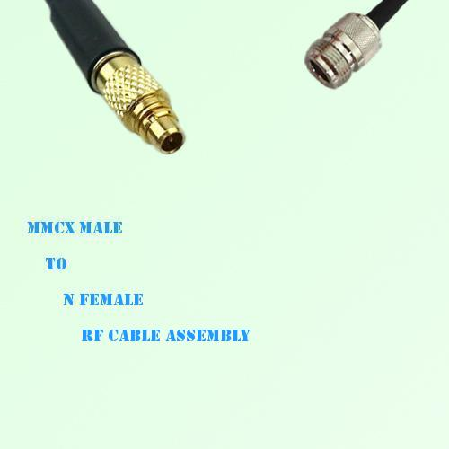 MMCX Male to N Female RF Cable Assembly