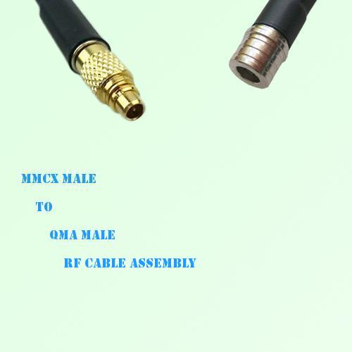 MMCX Male to QMA Male RF Cable Assembly