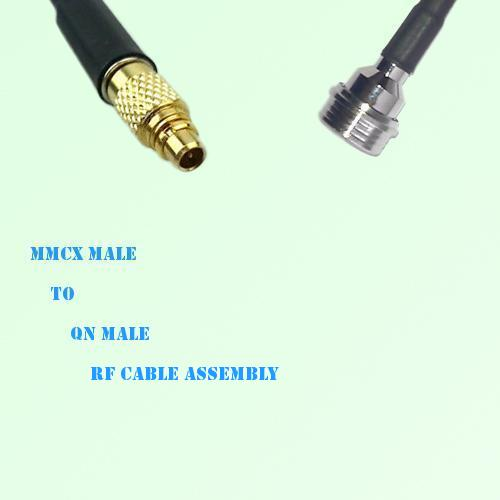 MMCX Male to QN Male RF Cable Assembly