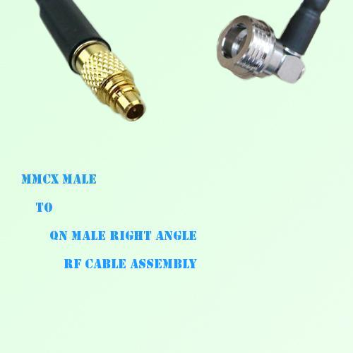 MMCX Male to QN Male Right Angle RF Cable Assembly