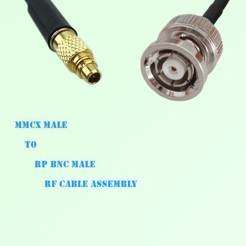 MMCX Male to RP BNC Male RF Cable Assembly