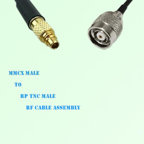 MMCX Male to RP TNC Male RF Cable Assembly