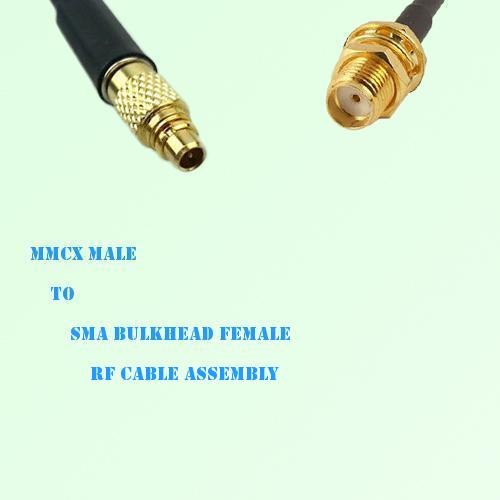 MMCX Male to SMA Bulkhead Female RF Cable Assembly