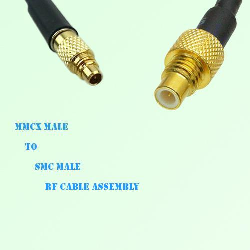 MMCX Male to SMC Male RF Cable Assembly