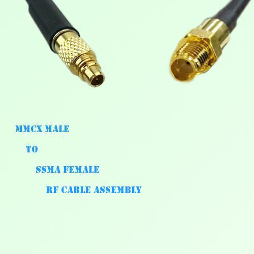 MMCX Male to SSMA Female RF Cable Assembly