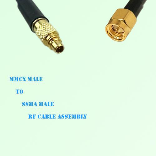 MMCX Male to SSMA Male RF Cable Assembly