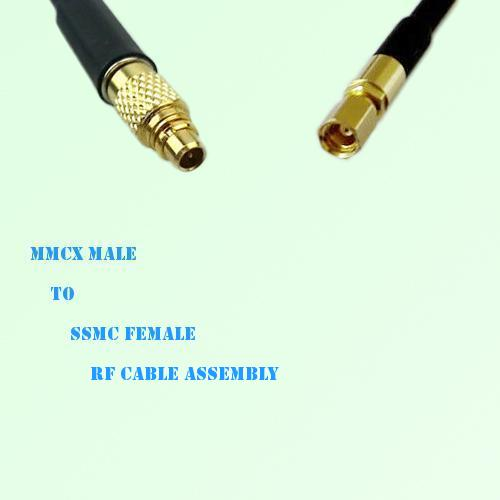 MMCX Male to SSMC Female RF Cable Assembly