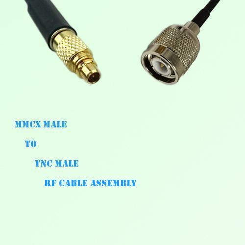 MMCX Male to TNC Male RF Cable Assembly