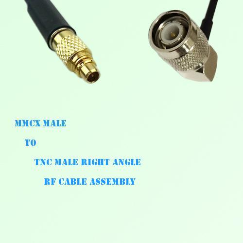 MMCX Male to TNC Male Right Angle RF Cable Assembly