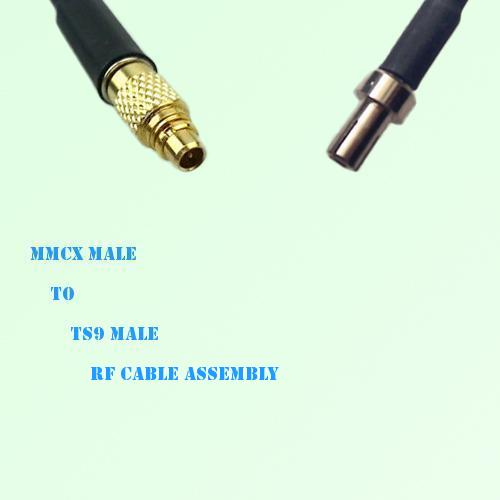 MMCX Male to TS9 Male RF Cable Assembly