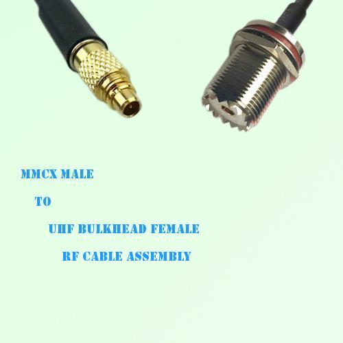 MMCX Male to UHF Bulkhead Female RF Cable Assembly