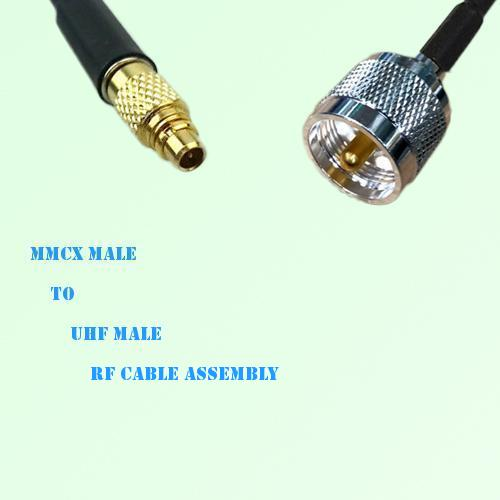 MMCX Male to UHF Male RF Cable Assembly