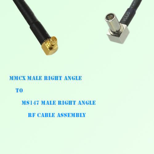MMCX Male Right Angle to MS147 Male Right Angle RF Cable Assembly