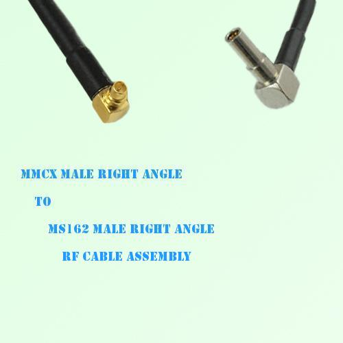 MMCX Male Right Angle to MS162 Male Right Angle RF Cable Assembly