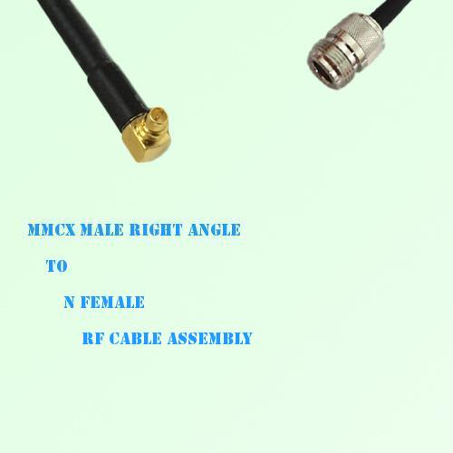 MMCX Male Right Angle to N Female RF Cable Assembly