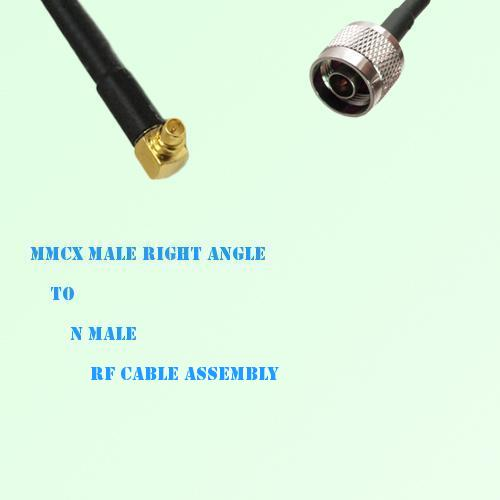 MMCX Male Right Angle to N Male RF Cable Assembly
