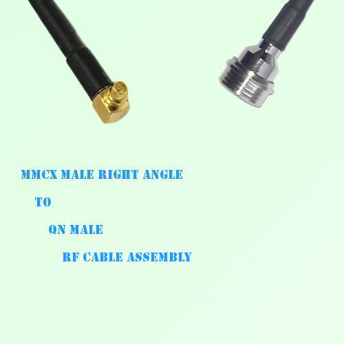 MMCX Male Right Angle to QN Male RF Cable Assembly